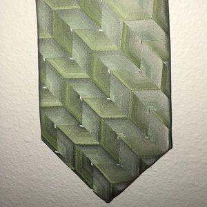 ARROW MEN'S NECKTIE-GREEN 100% SILK